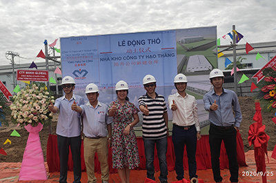 Minh Global khởi công dự án nhà kho công ty Hạo Thăng